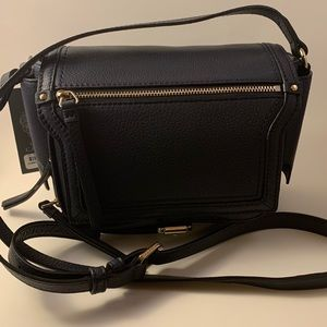 Vince Camuto Crossbody Leather Purse Blue Ink NWT
